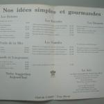ほとんど「海」のメニューです。「RELAIS & CHATEAUX」に入ってます。Chef:Yves Perou とあります。