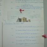 左ページには「グルマン・メニュー」2種と「軽いメニュー」が挟み込んであります。