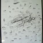 チト怖い(?)ポスター 「Ile d'OUESSANT近海での海難事故」(およそ1739~1988年の間)