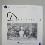 デザートのメニューも戴きました(1994年Juin) シェフ・パティシエ ジャン・マリー ロボリィ氏
