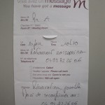 ホテルにコンファームのメッセージが・・・