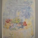 淡い色調で南仏の太陽をあらわし、それを受けた食材がエトワールの前のテーブルにあるという、なんとも美しい表紙。