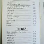 カクテルとビール。「ル フロール」と「ル サンジェルマン」がオリジナル、シャンパンベース。